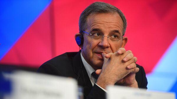 Депутат Национального собрания Франции Тьерри Мариани на пресс-конференции в МИА Россия сегодня