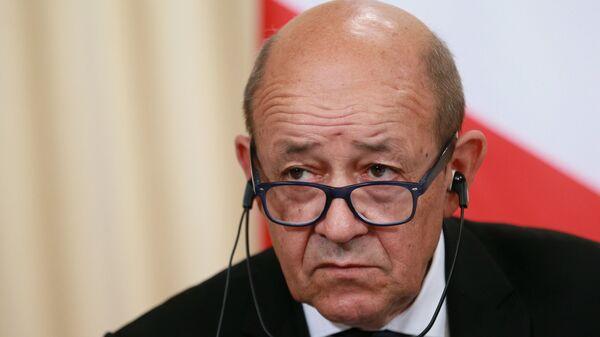 Встреча глав МИД РФ и Франции С.Лаврова и Ж.-И. Ле Дриана