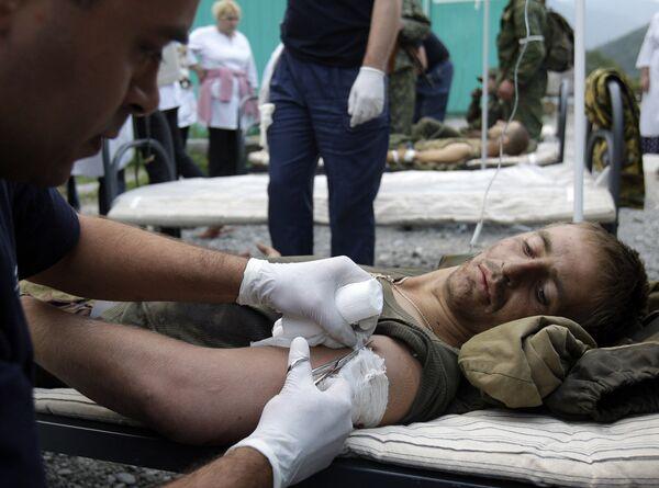 Медицинская помощь раненым Российским солдатам