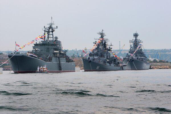 Парад кораблей Черноморского флота. Архив