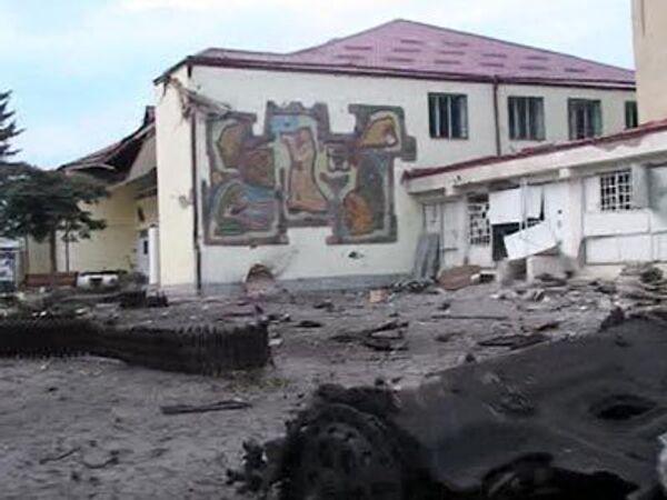 Цхинвали после первого массированного обстрела – видео с места