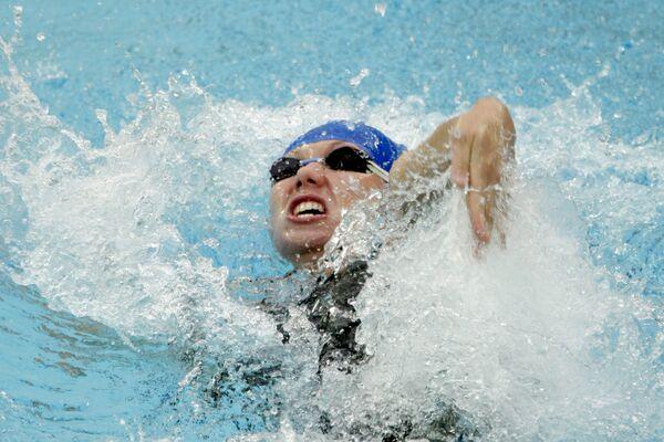 Участница финального заплыва