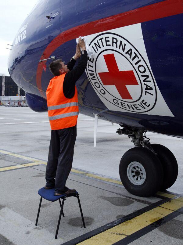 Самолет с гуманитарным грузом и представителями красного креста вылетел в Грузию