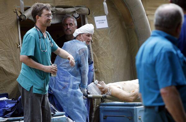 Российский мобильный госпиталь в Цхинвали