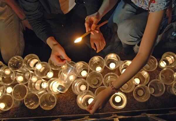 Траурный молебен по жертвам войны в Южной Осетии прошел в Ереване
