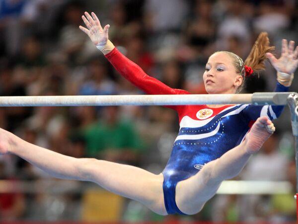 Член российской женской сборной по спортивной гимнастике Ксения Семенова