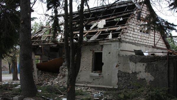 Разрушенные дома в Цхинвали