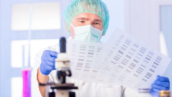 Работа лаборатории по исследованию ДНК