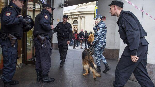 Сотрудники полиции в Санкт-Петербурге. Архивное фото