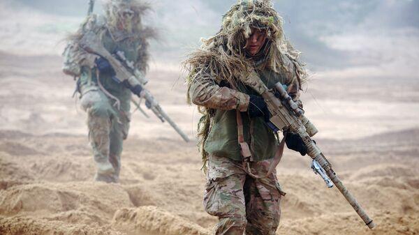 Военнослужащие НАТО во время учений в Латвии