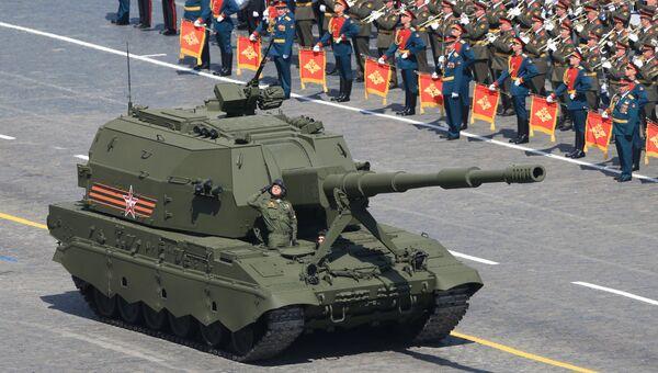 Самоходная артиллерийская установка (САУ) Коалиция-СВ. Архивное фото