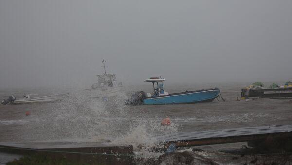 Во время ураган Мария вблизи острова Гваделупа. 19 сентября 2017