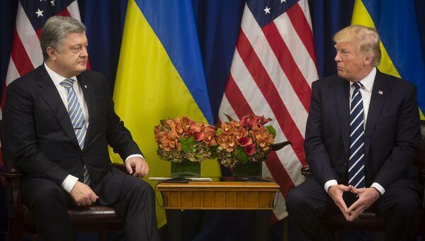 Петр Порошенко и Дональд Трамп. Архивное фото