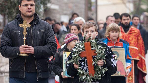 Крестный ход православных сербов