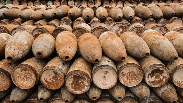 Площадка открытого хранения обожженных боеприпасов с отравляющими веществами на объекте Кизнер в Удмуртии