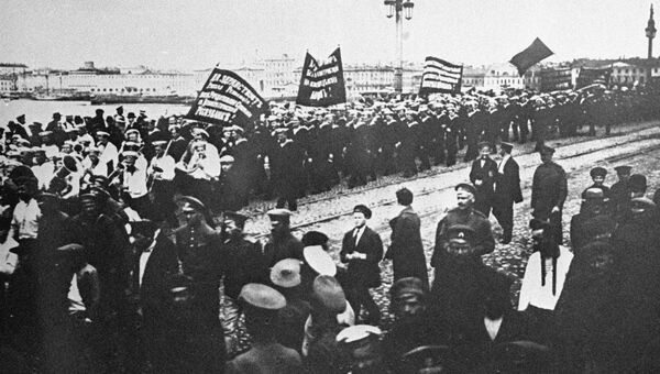 Революционная демонстрация в Петрограде. 18 июня 1917 года