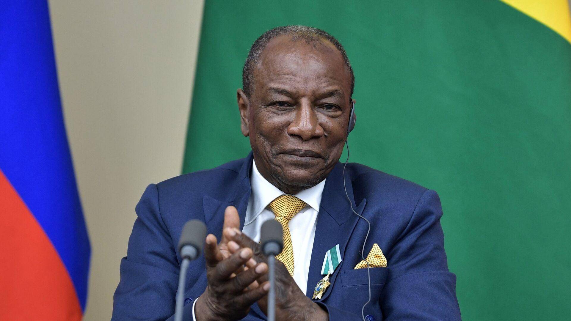 Президент Гвинейской Республики, действующий председатель Африканского союза Альфа Конде. 28 сентября 2017 - РИА Новости, 1920, 16.01.2021