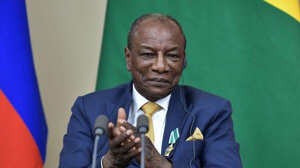 Президент Гвинейской Республики, действующий председатель Африканского союза Альфа Конде. 28 сентября 2017