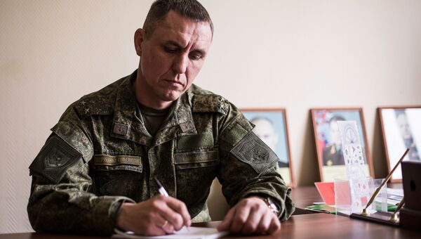 Военнослужащий в расположении Таманской дивизии