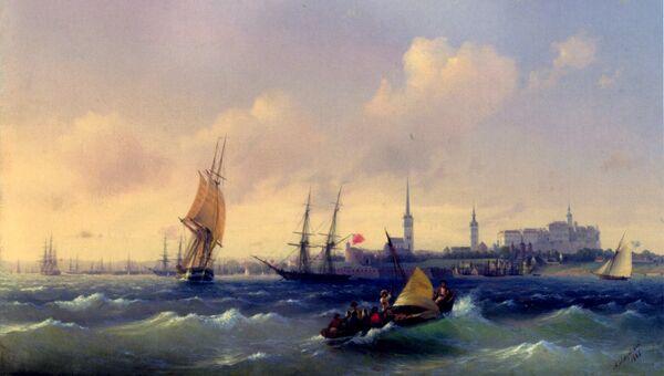 Иван Айвазовский. Вид на Ревель. 1844