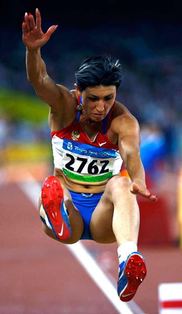 Татьяна Лебедева стала серебряным призером Игр-2008 в прыжках в длину