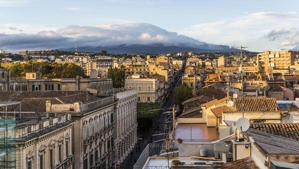 Город Катания на Сицилии