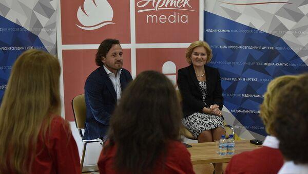 Пресс-конференция вице-премьера Ольги Голодец в медиакампусе МИА Россия сегодня в Артеке