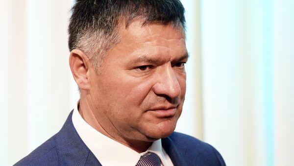 Временно исполняющий обязанности губернатора Приморского края Андрей Тарасенко во время представления в администрации Приморского края. 6 октября 2017