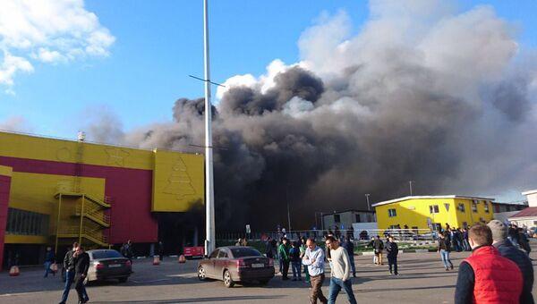 Пожар в торговом комплексе Синдика. 8 октября 2017