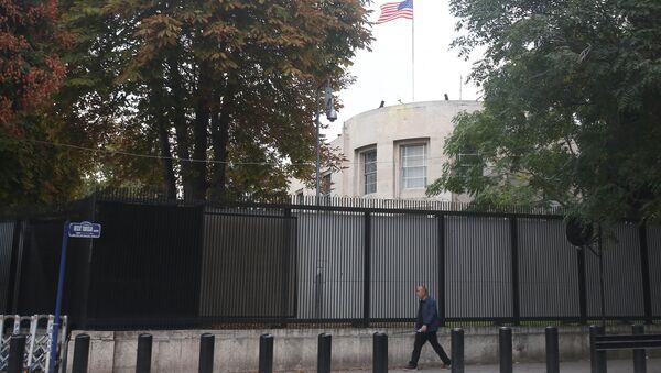 Здание посольства США в Анкаре, Турция. 9 октября 2017