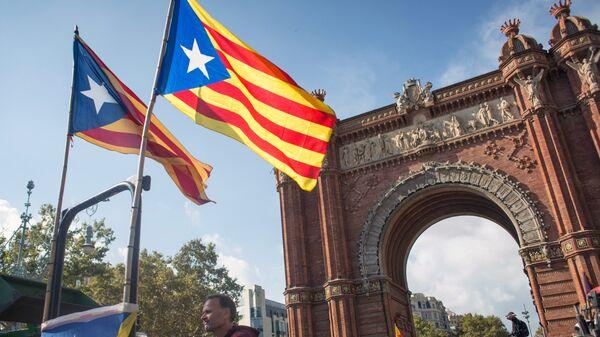У парламента Каталонии в Барселоне. Архивное фото