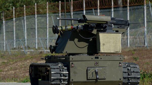 Роботизированный комплекс Платформа-М подразделений специального назначения Восточного военного округа