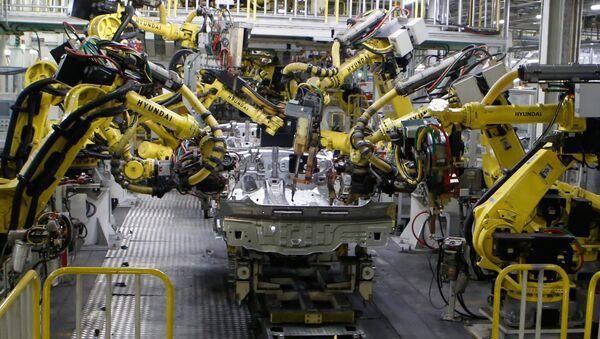 Автоматическая сварка узлов Hyundai. Архивное фото