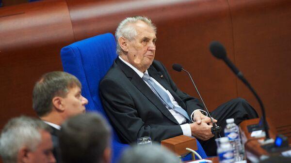 Президент Чехии Милош Земан на заседании ПАСЕ