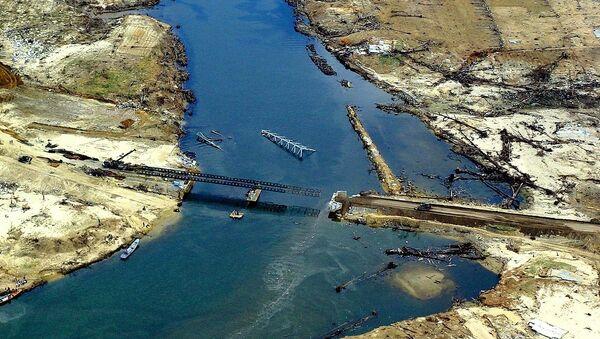 Северо-западное побережье острова Суматры после цунами 2004 года