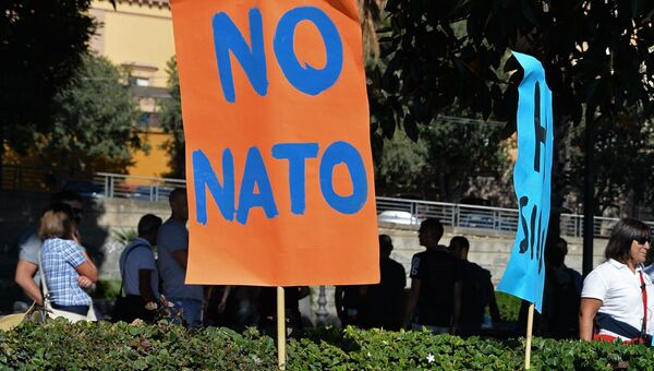 Акция против НАТО. Архивное фото