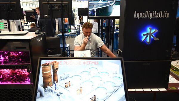 Стенд компании АКВАЛ (AquaDigitalLife) на выставке, проходящей в рамках международного форума Открытые Инновации- 2017  в Москве. 16 октября 2017