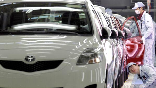 Cборочная линия на заводе компании Toyota Motor Co. Архивное фото