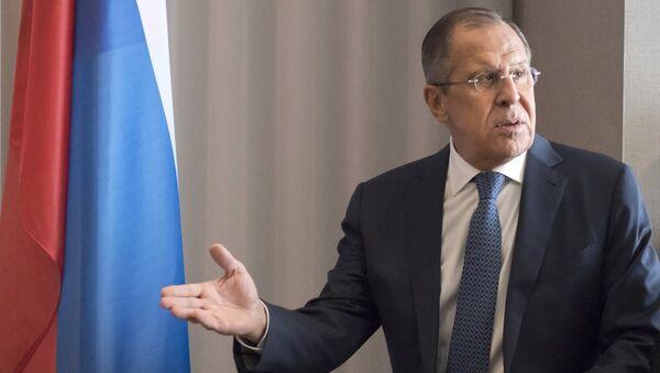 Министр иностранных дел РФ Сергей Лавров. 18 октября 2017
