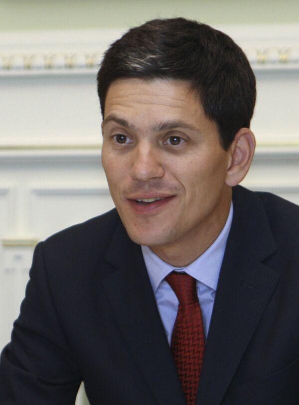 Министр иностранных дел Великобритании Дэвид Милибанд