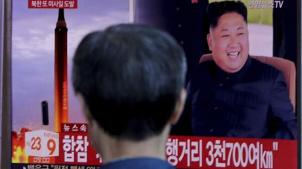 Трансляция новостей о новом пуске северокорейской ракеты