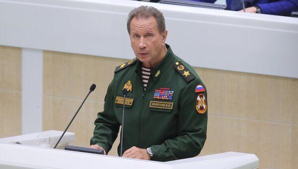 Главнокомандующий войсками национальной гвардии РФ Виктор Золотов. Архивное фото