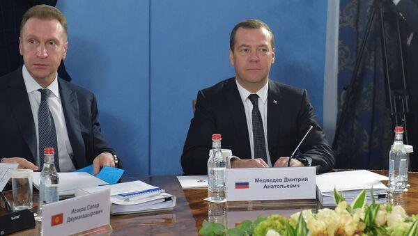 Дмитрий Медведев на заседании Евразийского межправительственного совета в Ереване. 25 октября 2017