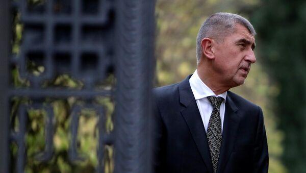 Лидер движения ANO Андрей Бабиш после встечи с президентом Чехии. 23 октября 2017