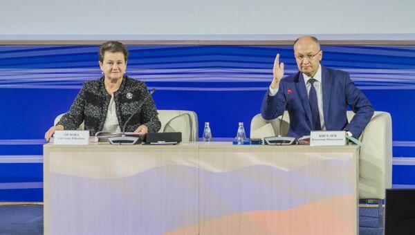 Губернатор Владимирской области Светлана Орлова и председатель Законодательного Собрания Владимир Киселев