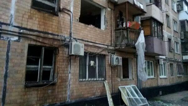 На месте взрыва в Донецке. 26 октября 2017