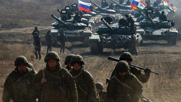 Военнослужащие Вооруженных сил России во время международных российско-индийских межвидовых учений Индра. Архивное фото