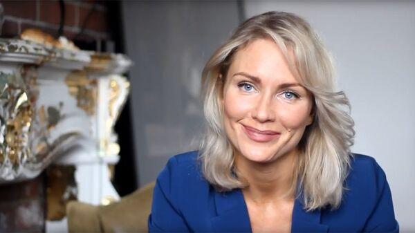 Стоп-кадр из видео Екатерины Гордон с заявлением о желании выдвинуть свою кандидатуру на выборах президента РФ