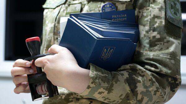 Сотрудница пограничной службы Украины. Архивное фото