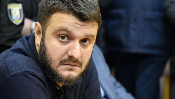Сын министра внутренних дел Украины Александр Аваков во время заседания суда в Киеве. 1 ноября 2017